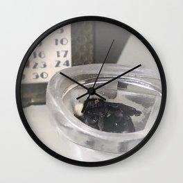 Dead Bee in Eye Wash Cup Wall Clock