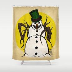 Sinister Snowman Shower Curtain