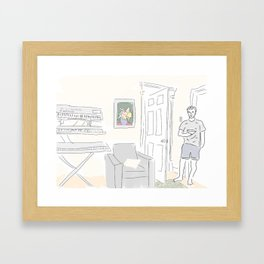 David at Home Framed Art Print