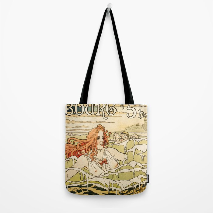 Cabourg Paris Beach art nouveau travel ad Tote Bag