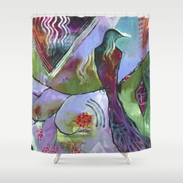 """Honor East"" Original Painting by Flora Bowley Shower Curtain"