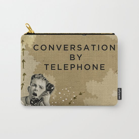 Conversation by Telephone Carry-All Pouch