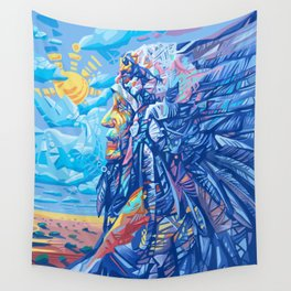 native american portrait 3 Wall Tapestry