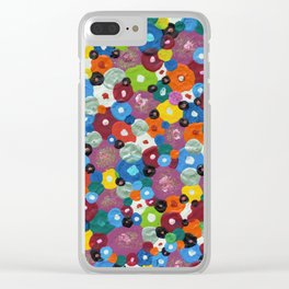 Bed of Flowers Clear iPhone Case