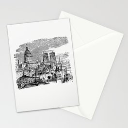 France from Paris-Neuf Or Dream And Reality Great Phantasmagoria (1861) Stationery Cards