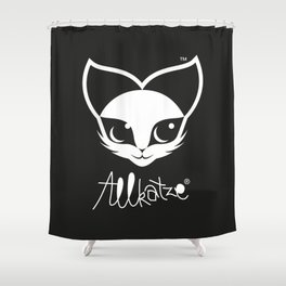 ALLKATZE * Space Cat - Weltraum-Katze - Chat d'Espace Shower Curtain