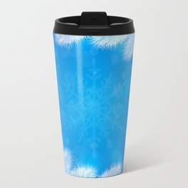 White Christmas tree background Travel Mug