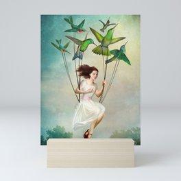 Take me somewhere nice Mini Art Print