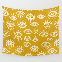 Mystic Eyes – Marigold Palette Wall Tapestry