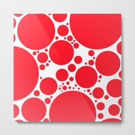 BUBBLE RED Metal Print