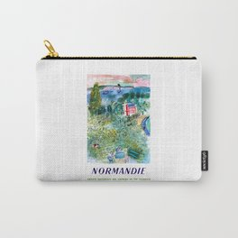 1952 Normandie France Railway Travel Poster Carry-All Pouch