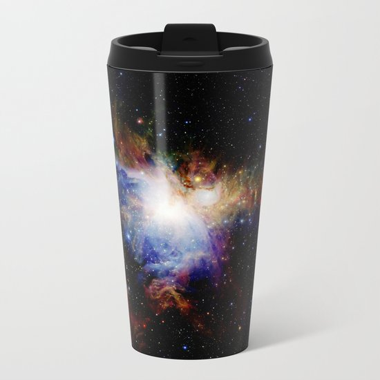 Orion NebulA Colorful Full Image Metal Travel Mug