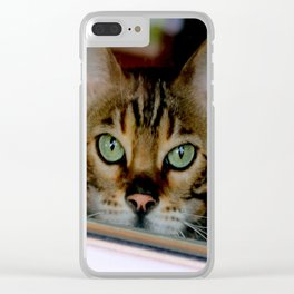 Just A Bit Nose-y Clear iPhone Case