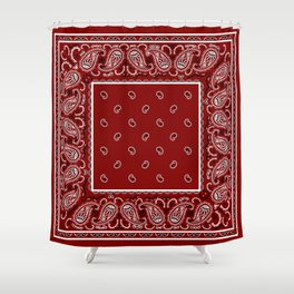 Classic Maroon Badana Shower Curtain