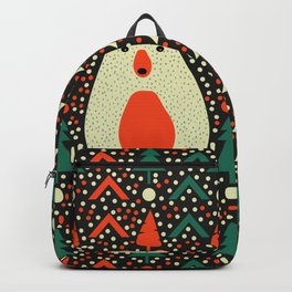 Bear, dots and Christmas trees Backpack