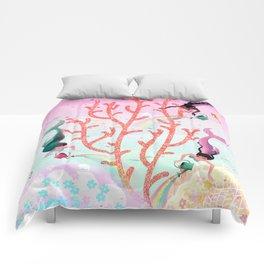 Mermaids' Coral Garden childrens' illustration Comforters