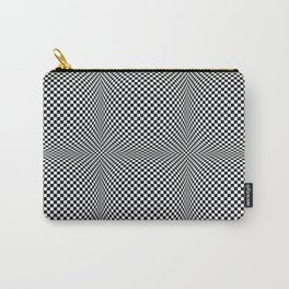 op art - black and white checks bulge Carry-All Pouch