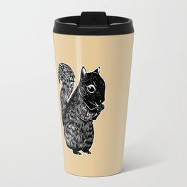 Black Squirrel Printmaking Art Travel Mug