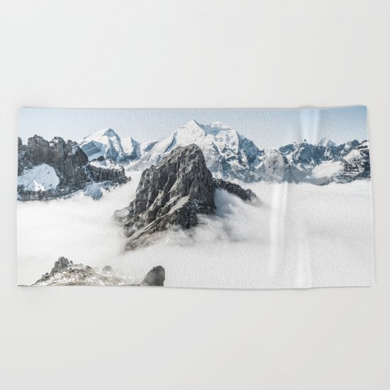 With My Head Above The Clouds Beach Towel