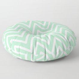 Chevron Wave Mint Floor Pillow