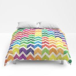 Watercolor Chevron Pattern IV Comforters