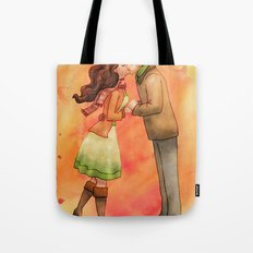 Cold Weather Kiss Tote Bag