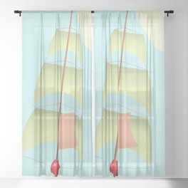 Flying and Sailing in May with May to America  - shoes stories Sheer Curtain