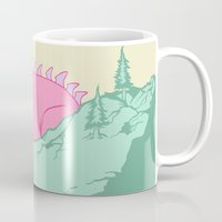 kaiju Mugs featuring Kaiju Naptime by Dickie Danger