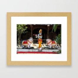 God Krishna  Framed Art Print