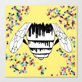 Bee city Canvas Print