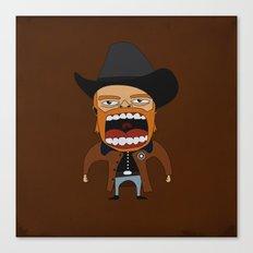 Screaming Walker Texas Ranger Canvas Print