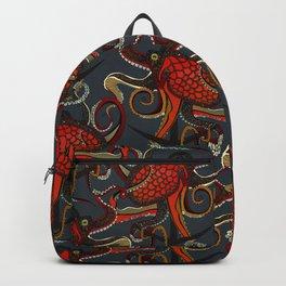 octopus ink gunmetal Backpack