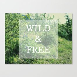 Run Wild Free Spirit | Nature Photograph Canvas Print