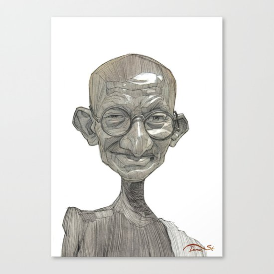 Mahatma Gandhi illustration portrait Canvas Print
