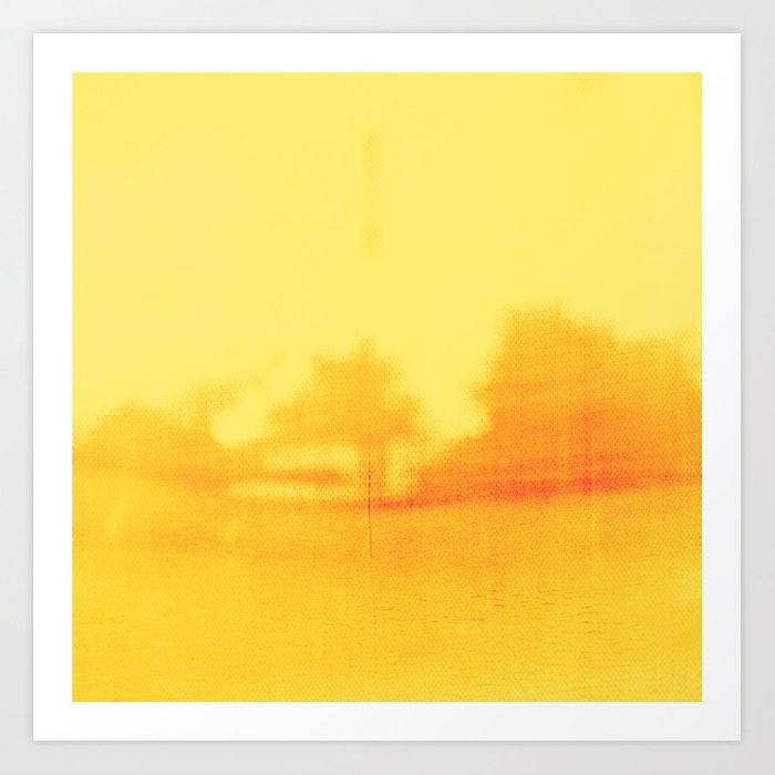 Yellow Color Block, Abstract Minimalist Landscape, Modern Wall Art ...