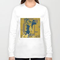 the strokes Long Sleeve T-shirts featuring Foot Strokes by Ron Jones The Artist