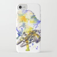 millenium falcon iPhone & iPod Cases featuring Star Wars Millenium Falcon  by idillard
