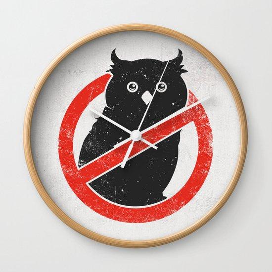 No Owls Wall Clock