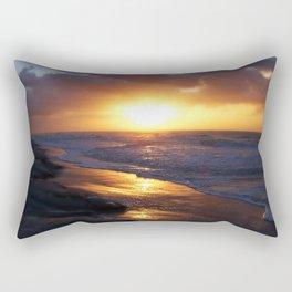 Sunrise Over Atlantic Ocean Rectangular Pillow