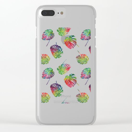 Tropical plant Clear iPhone Case