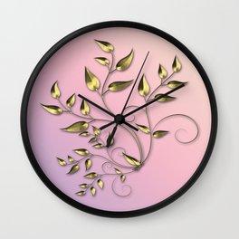 Gold flower Wall Clock