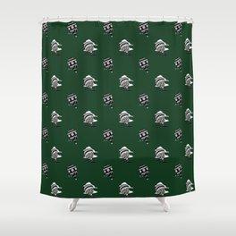 HOT AIR BALLOONS ON GREEN Shower Curtain