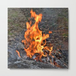 frozen fire Metal Print