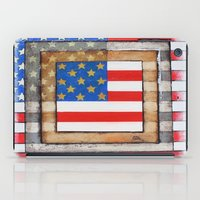 american flag iPad Cases featuring American Flag by Steve Hester