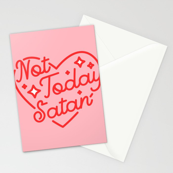 not today satan II Stationery Cards