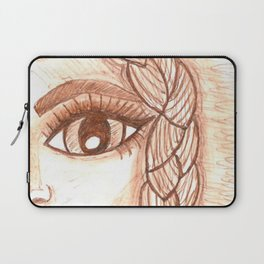 Girl with braid Laptop Sleeve