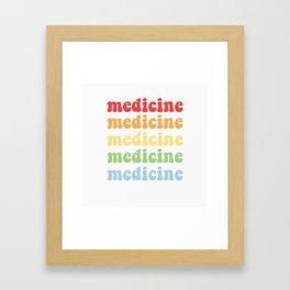 retro medicine Framed Art Print