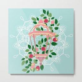 Pink Lantern Metal Print