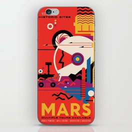 NASA Retro Space Travel Poster #9 Mars iPhone Skin