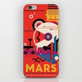 NASA Retro Space Travel Poster #9 Mars iPhone Skin